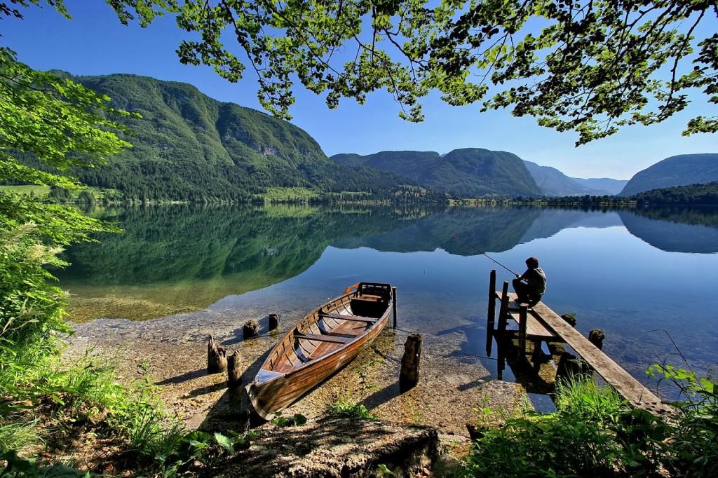 Panorama del lago Bohinj