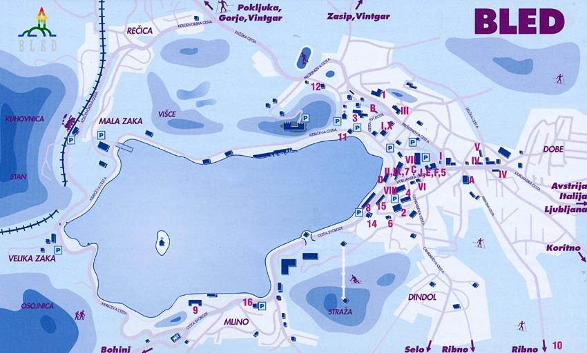 Puntos interesantes del lago Bled