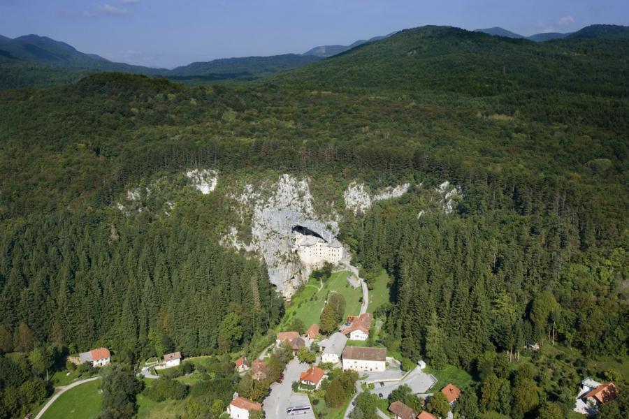 Vista área del castillo