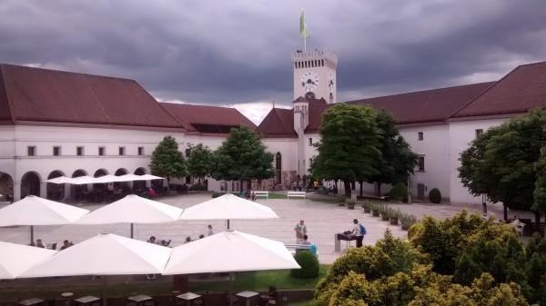 El castillo de Liubliana por dentro