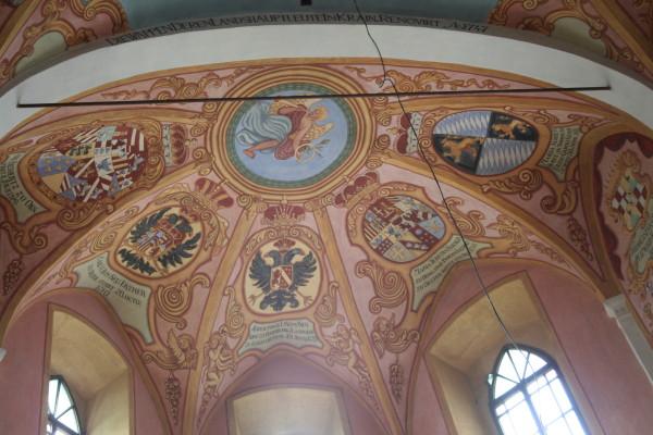 Una de las salas del castillo de Liubliana
