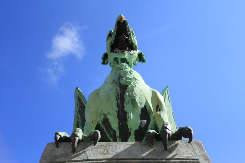 Puente del dragón en Ljubljana