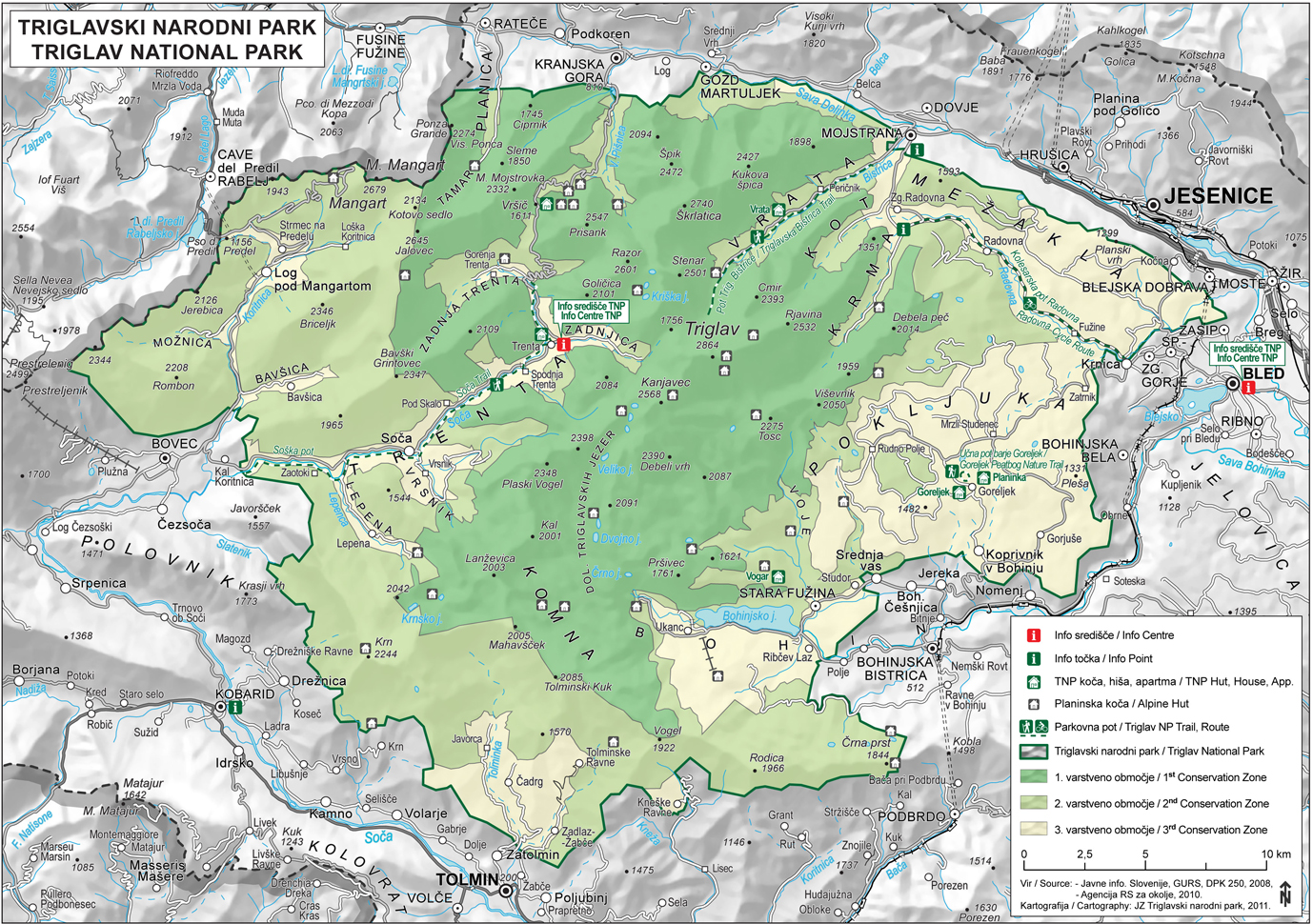 Mapa de Triglav